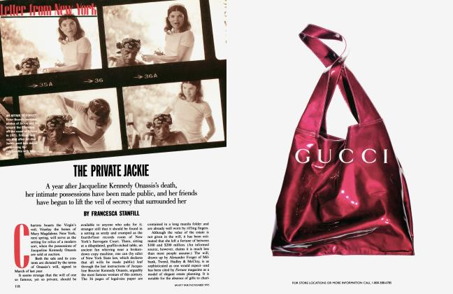 Article Preview: THE PRIVATE JACKIE, November 1995 1995 | Vanity Fair
