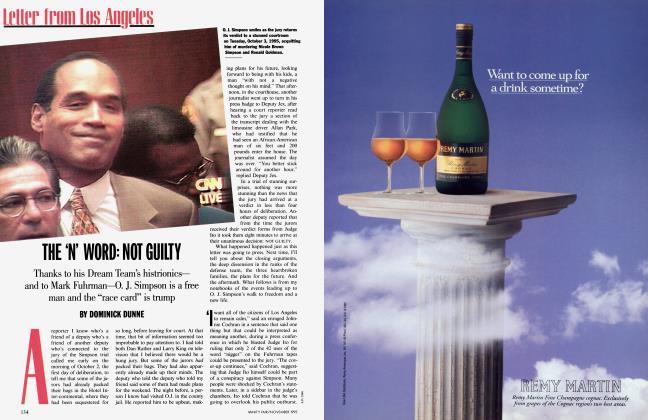 Article Preview: THE 'N' WORD: NOT GUILTY, November 1995 1995 | Vanity Fair