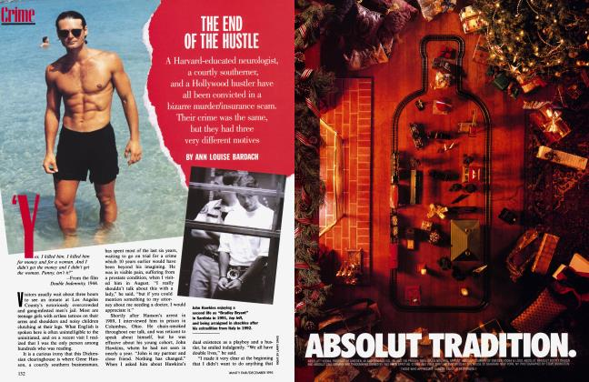 Article Preview: THE END OF THE HUSTLE, December 1995 | Vanity Fair