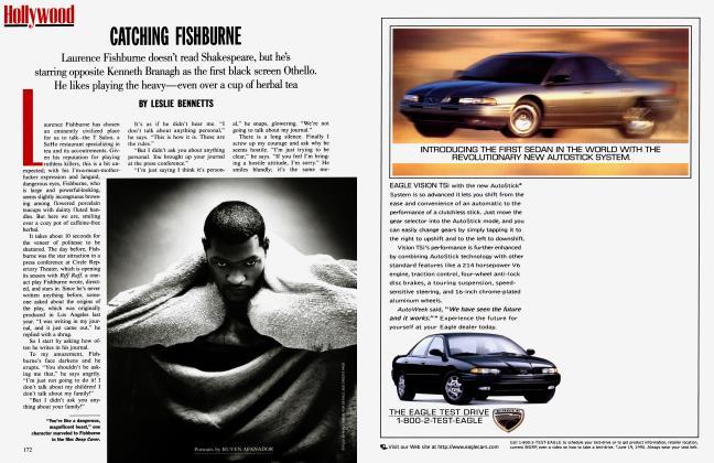 Article Preview: CATCHING FISHBURNE, December 1995 1995 | Vanity Fair