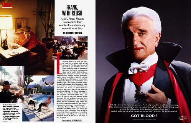 Article Preview: FRANK, WITH RELISH, January 1996 1996 | Vanity Fair