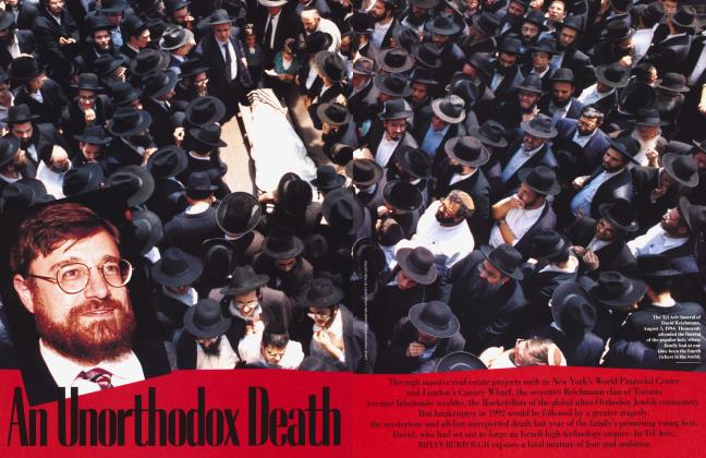 Article Preview: An Unorthodox Death, January 1996 | Vanity Fair