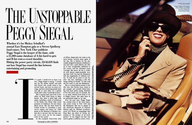 Article Preview: THE UNSTOPPABLE PEGGY SIEGAL, January 1996 | Vanity Fair