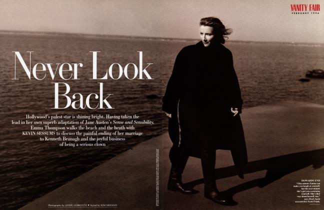 Article Preview: Never Look Back, February 1996 1996 | Vanity Fair