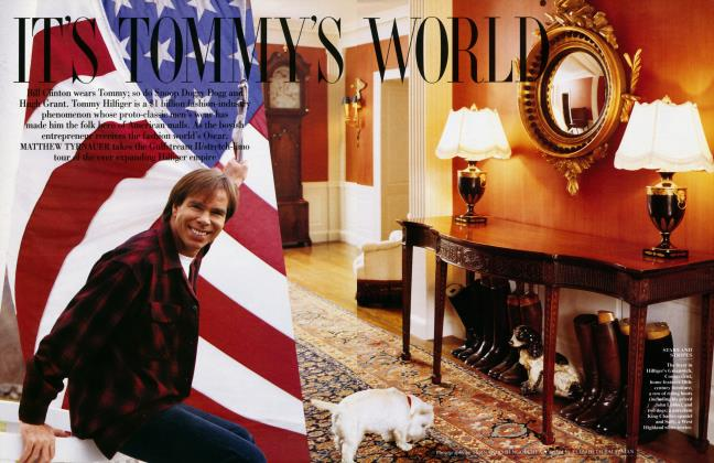 Article Preview: IT'S TOMMY'S WORLD, February 1996 1996 | Vanity Fair