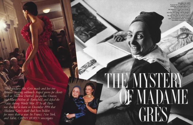 Article Preview: THE MYSTERY OF MADAME GRÈS, February 1996 1996 | Vanity Fair