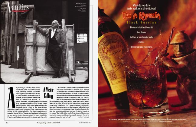 Article Preview: A Meier Calling, April 1996 1996   Vanity Fair