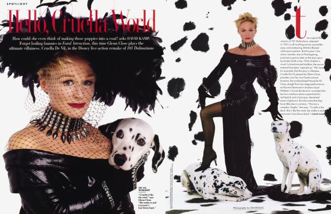 Article Preview: Hello, Cruella World, April 1996 1996 | Vanity Fair