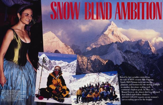 Article Preview: SNOW BLIND AMBITION, August 1996 1996 | Vanity Fair