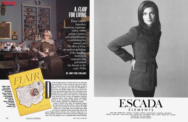 Article Preview: A FLAIR FOR LIVING, October 1996 | Vanity Fair