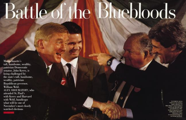 Article Preview: Battle of the Bluebloods, October 1996 | Vanity Fair