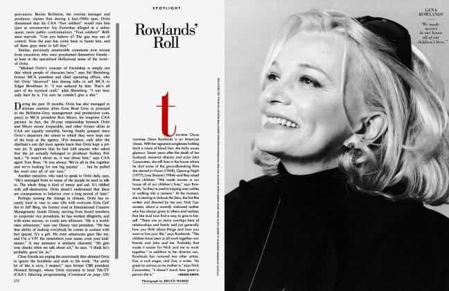 Article Preview: Rowlands' Roll, December 1996 1996 | Vanity Fair