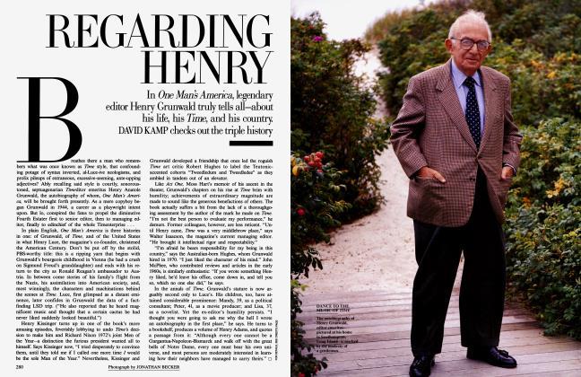 Article Preview: REGARDING HENRY, December 1996 1996 | Vanity Fair