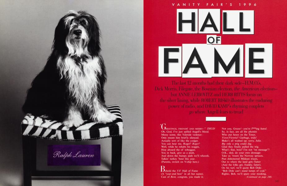 VANITY FAIR'S 1996 HALL OF FAME