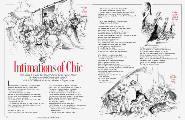Article Preview: Intimations of Chic, January 1997 1997 | Vanity Fair
