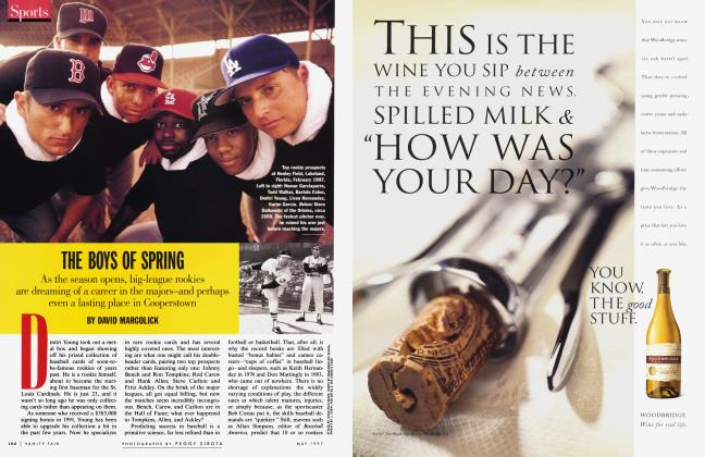 Article Preview: THE BOYS OF SPRING, May 1997 1997   Vanity Fair