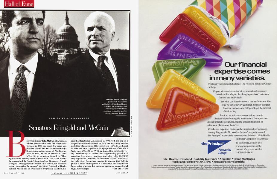 VANITY FAIR NOMINATES Senators Feingold and McCain