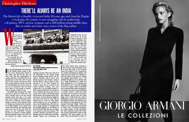 Article Preview: THERE'LL ALWAYS BE AN INDIA, August 1997 | Vanity Fair