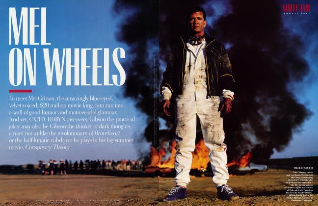 Article Preview: MEL ON WHEELS, August 1997 1997   Vanity Fair