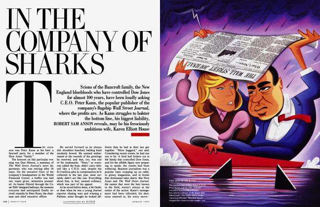 Article Preview: IN THE COMPANY OF SHARKS, August 1997 1997 | Vanity Fair