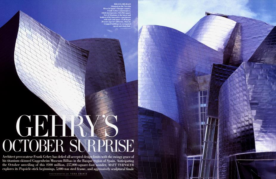 GEHRY'S OCTOBER SURPRISE
