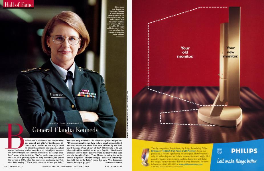 VANITY FAIR NOMINATES General Claudia Kennedy