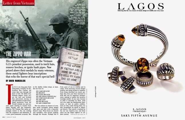Article Preview: THE ZIPPO WAR, December 1997 1997   Vanity Fair