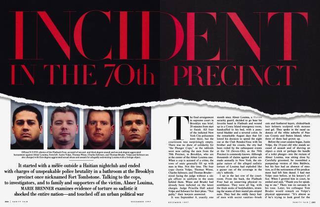Article Preview: INCIDENT IN THE 70th PRECINCT, December 1997 1997 | Vanity Fair