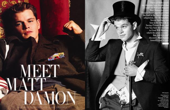Article Preview: MEET MATT DAMON, December 1997 1997 | Vanity Fair