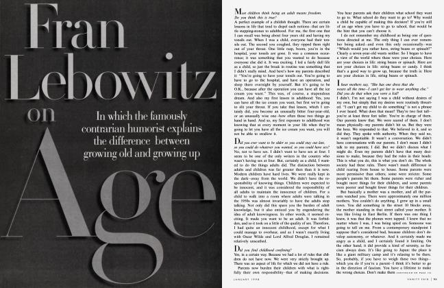 Article Preview: Fran Lebowitz on Age, January 1998 1998 | Vanity Fair