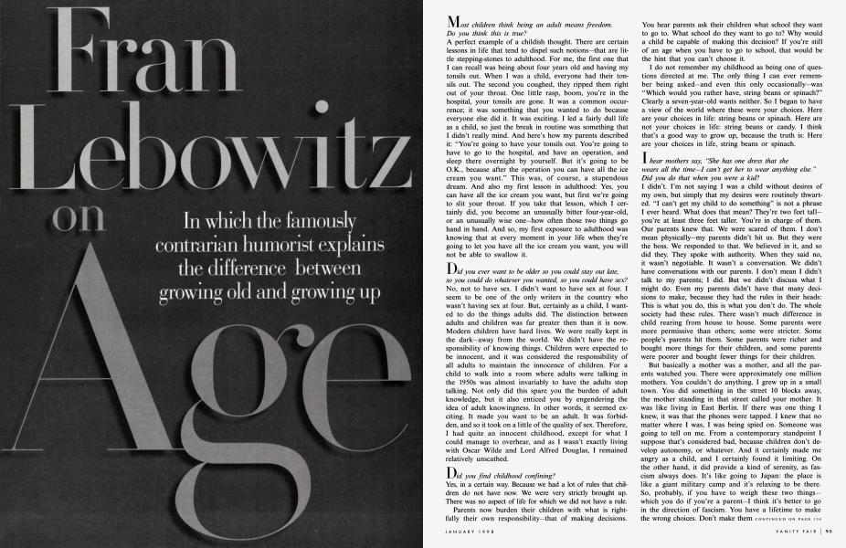 Fran Lebowitz on Age
