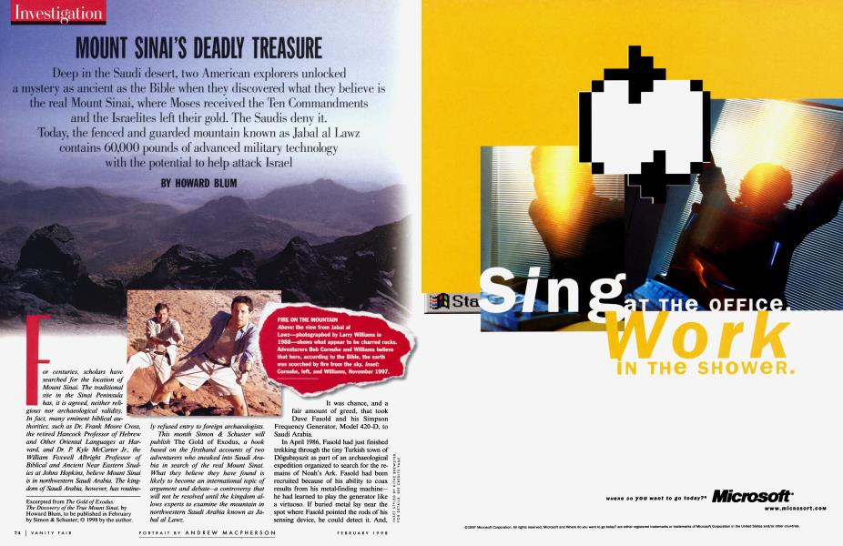 MOUNT SINAI'S DEADLY TREASURE