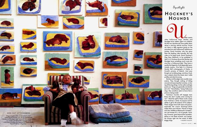 Article Preview: HOCKNEY'S HOUNDS, April 1998 1998 | Vanity Fair