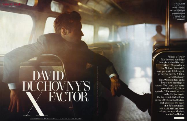 Article Preview: DAVID DUCHOVNY'S FACTOR X FACTOR, June 1998 1998 | Vanity Fair