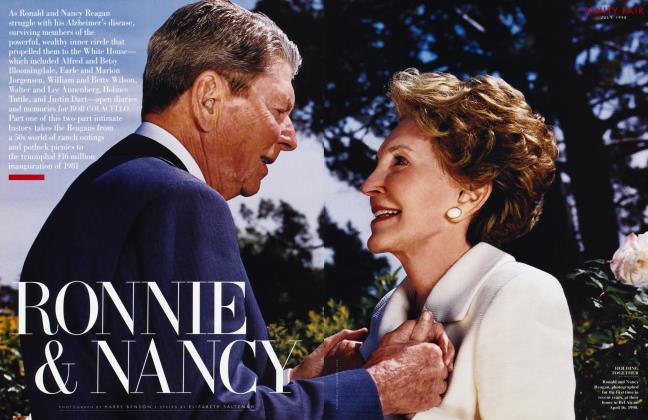 Article Preview: RONNIE & NANCY, July 1998 1998 | Vanity Fair