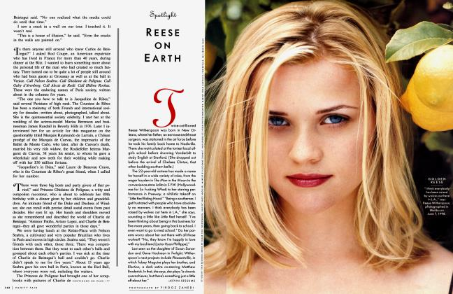 Article Preview: REESE ON EARTH, August 1998 1998 | Vanity Fair