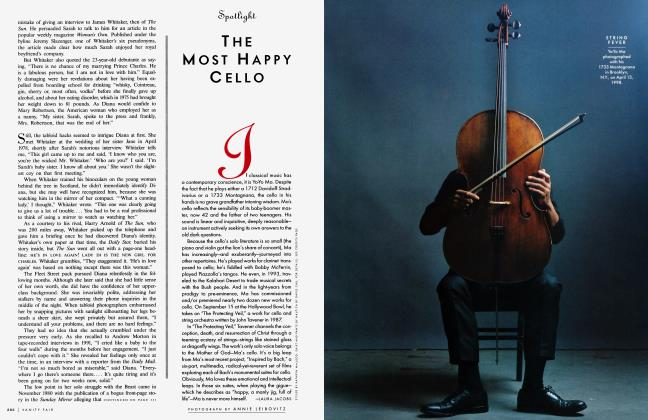 Article Preview: THE MOST HAPPY CELLO, September 1998 1998 | Vanity Fair