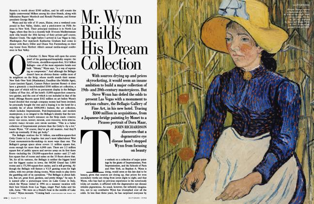 Article Preview: Mr. Wynn Builds His Dream Collection, October 1998 1998 | Vanity Fair