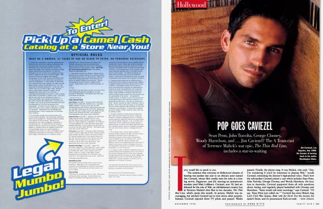 Article Preview: POP GOES CAVIEZEL, December 1998 1998 | Vanity Fair