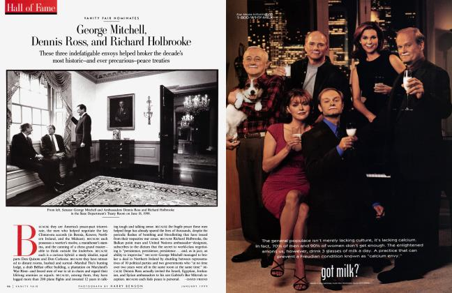 Article Preview: VANITY FAIR NOMINATES George Mitchell, Dennis Ross, and Richard Holbrooke, January 1999 1999 | Vanity Fair