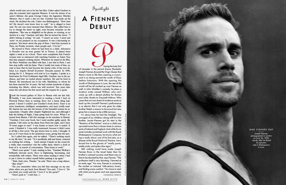 A FIENNES DEBUT