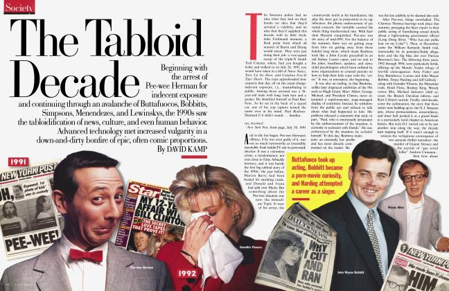 Article Preview: The Tabloid Decade, February 1999 | Vanity Fair