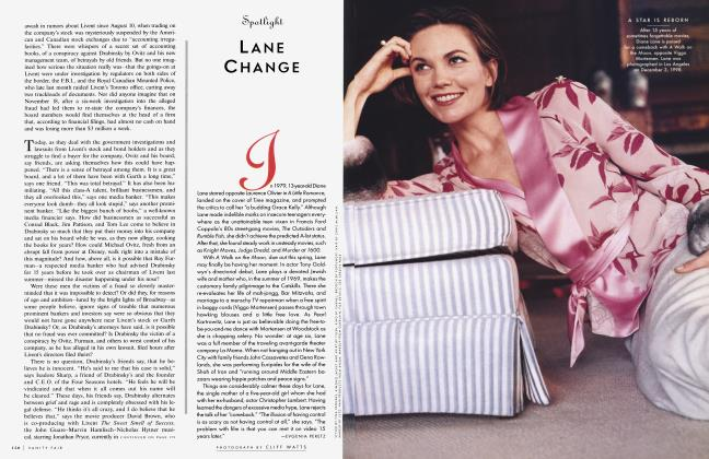 Article Preview: LANE CHANGE, February 1999 1999   Vanity Fair
