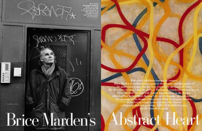 Article Preview: Brice Marden's Abstract Heart, May 1999 | Vanity Fair