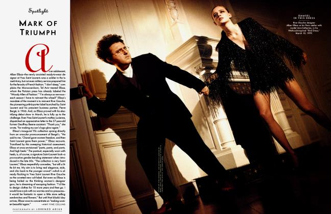 Article Preview: MARK OF TRIUMPH, May 1999 1999 | Vanity Fair