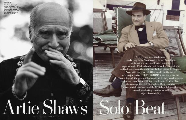 Article Preview: Artie Shaw's Solo Beat, June 1999 | Vanity Fair
