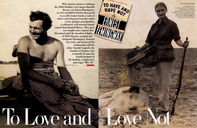 Article Preview: To Love and Love Not, July 1999 1999 | Vanity Fair