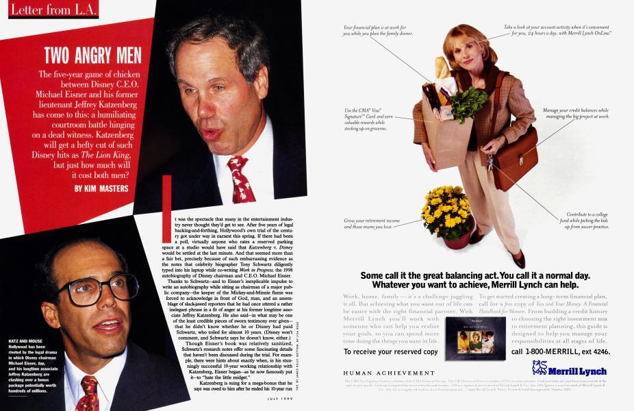 TWO ANGRY MEN | Vanity Fair | July 1999