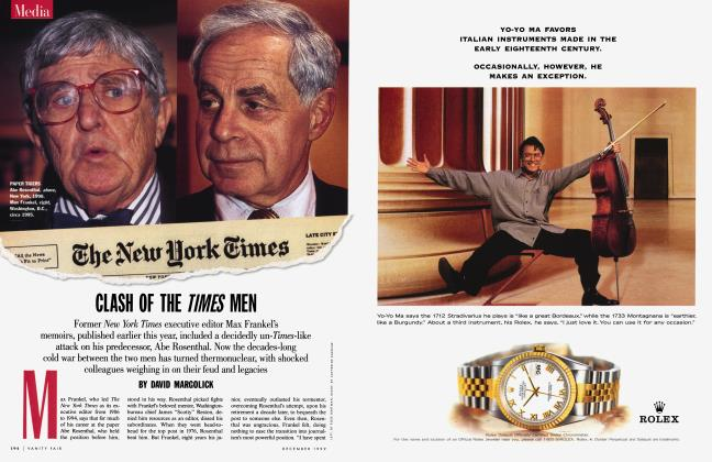 Article Preview: CLASH OF THE TIMES MEN, December 1999 | Vanity Fair