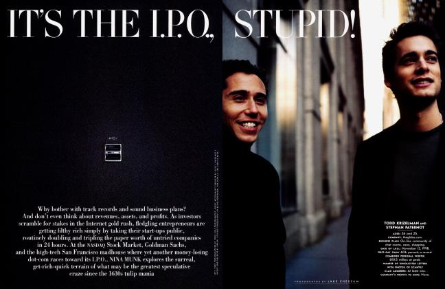 Article Preview: IT'S THE I.P.O., STUPID!, January 2000 2000 | Vanity Fair